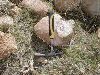 shock spallation fracture, quartzite boulder, Pelarda Formation ejecta Azuara Rubielos de la Cérida impact structures