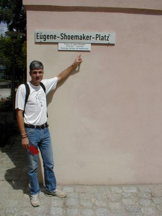 Eugene-Shoemaker-Platz - location of the Ries crater museum