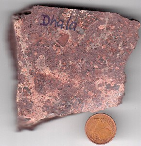 impact melt rock Dhala impact structure India