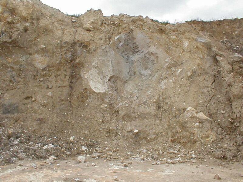 Bunte breccia ejecta megabreccia, Gundelsheim quarry, Ries crater