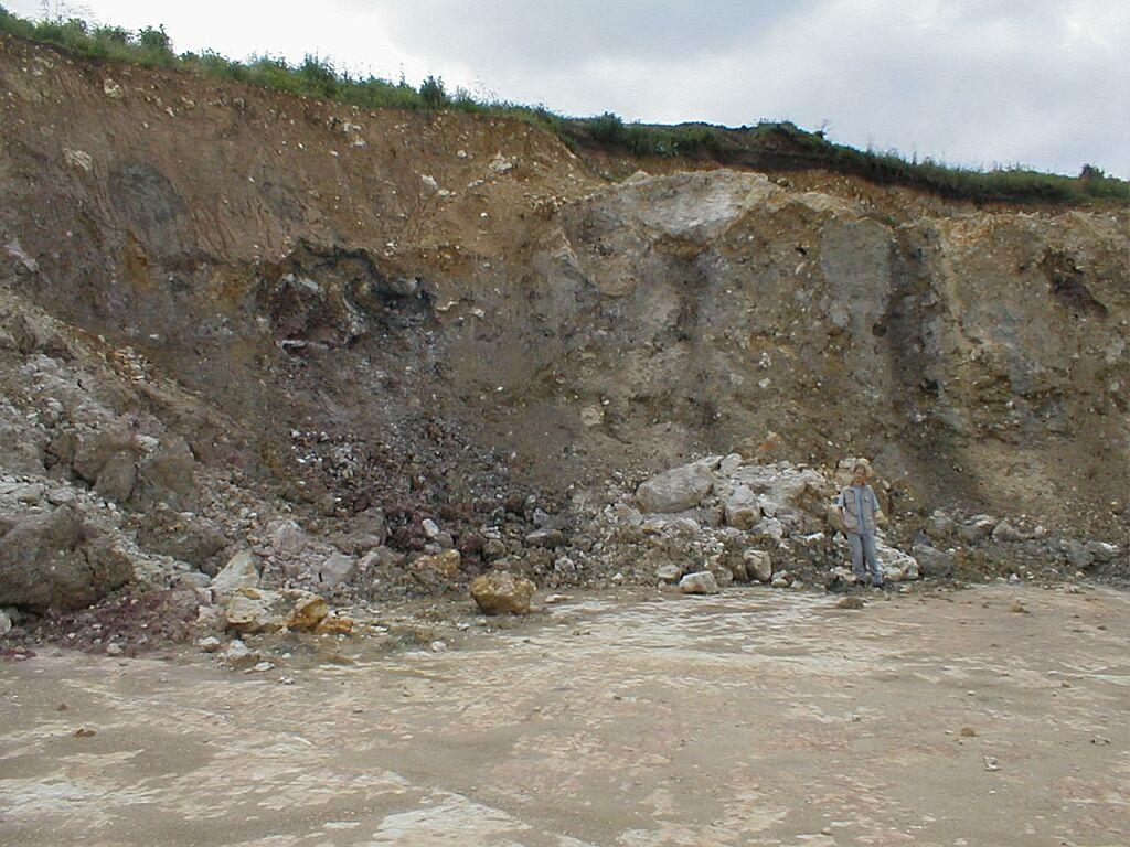 Bunte breccia ejecta Ries crater Gundelsheim quarry
