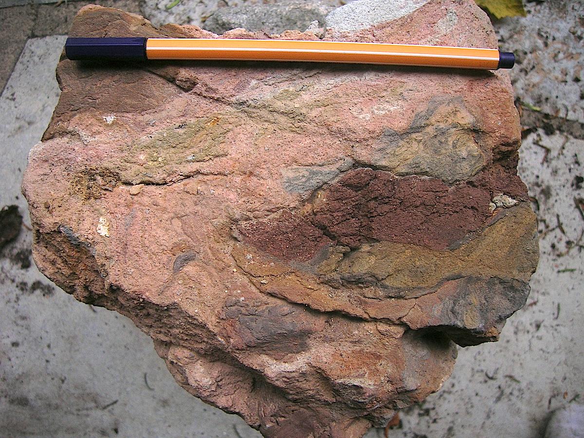ries crater, bunte breccia ejecta, mostly Keuper material
