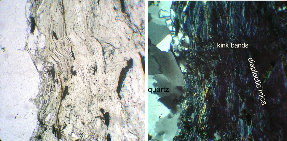 diaplectic glass from mica in quartzite cobble Chiemgau impact