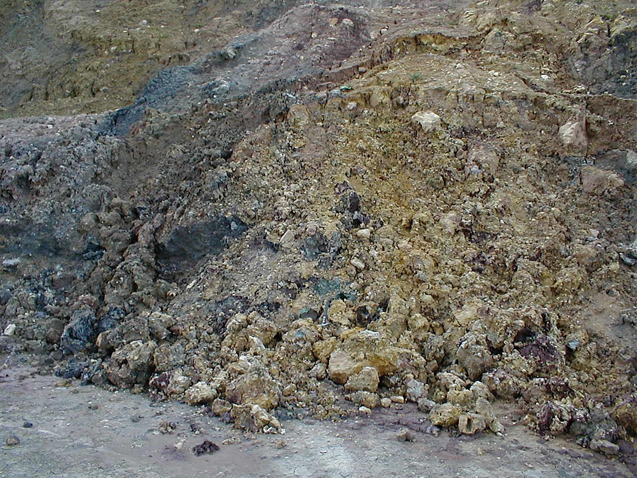 Bunte breccia ejecta, Ries crater, Ronheim quarry