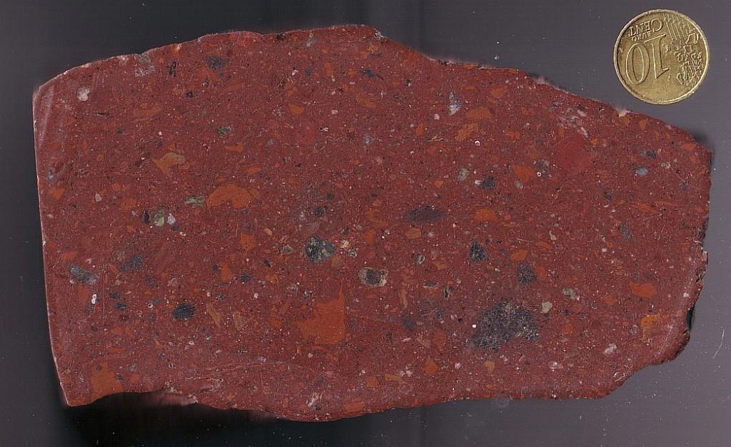 suevite breccia, Siljan ring impact structure, Sweden