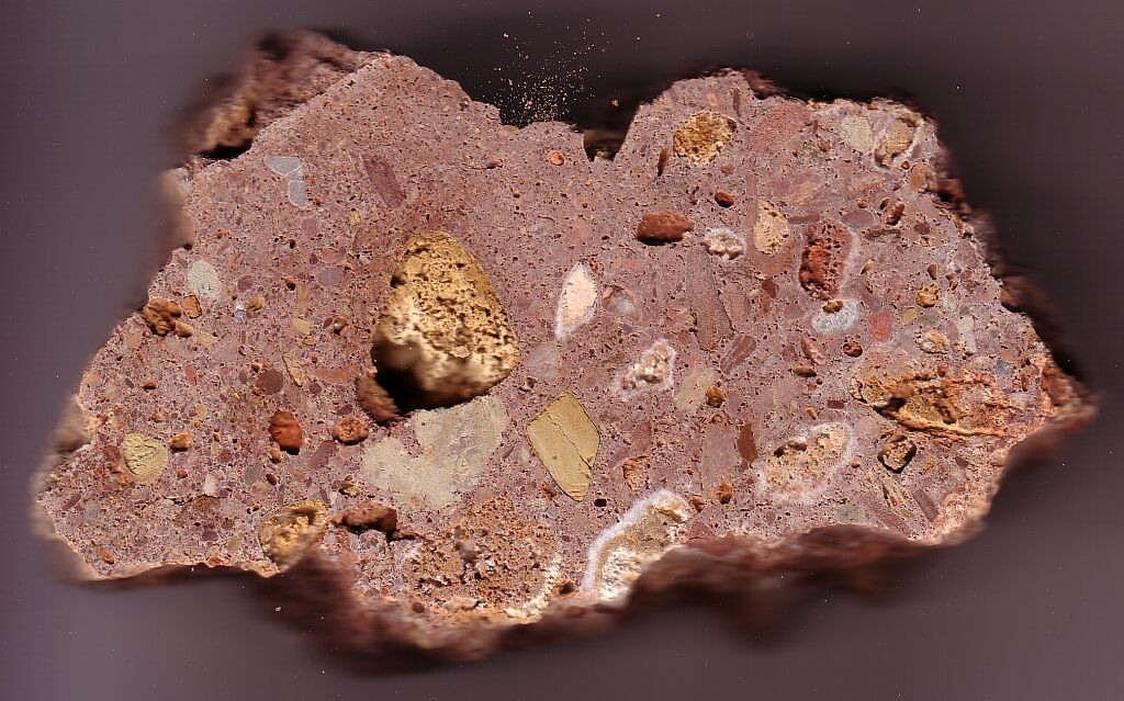 suevite from the Rubielos de la Cérida impact basin, near Villafranca del Campo