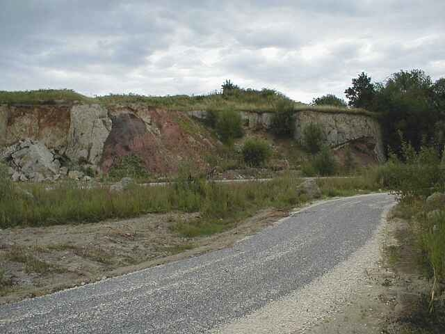 Ries crater ejecta in a quarry, Bunte breccia and suevite, Aumühle