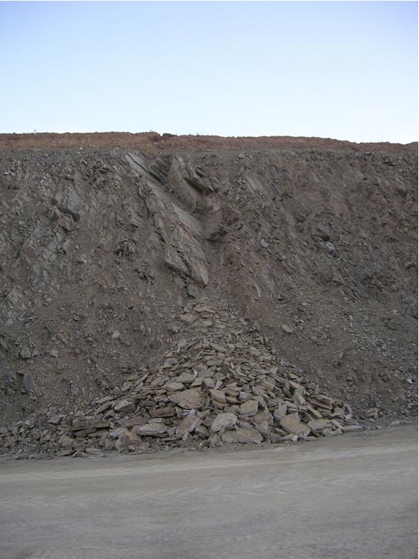 autovía Mudéjar geological outcrop, landslide 3, Azuara impact structure