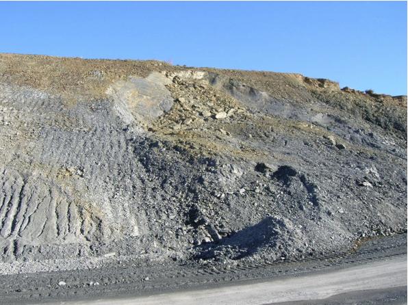 autovía Mudéjar geological outcrop, landslide 4, Azuara impact structure