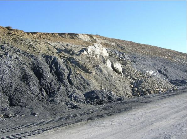 autovía Mudéjar geological outcrop, landslide 6, Azuara impact structure