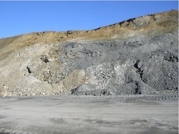 autovía Mudéjar geological outcrop, landslide 7, Azuara impact structure