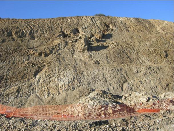 autovía Mudéjar geological outcrop, landslide 8, Azuara impact structure