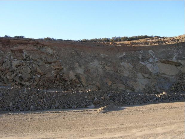 autovía Mudéjar geological outcrop, landslide 10, Azuara impact structure