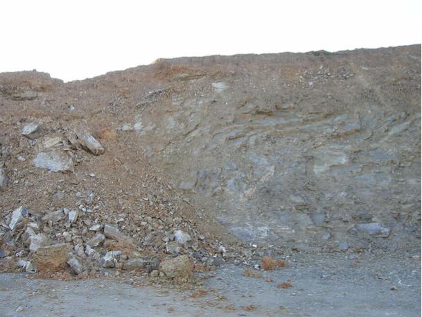 autovía Mudéjar geological outcrop, landslide 12, Azuara impact structure