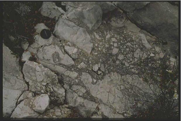 impact breccia dike and pocket, Belchite 2, Azuara impact structure