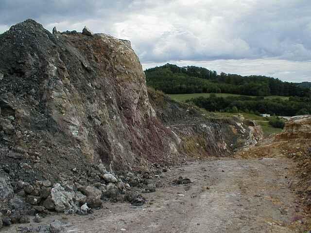 Bunte breccia megabreccia, Ronheim quarry, Ries crater