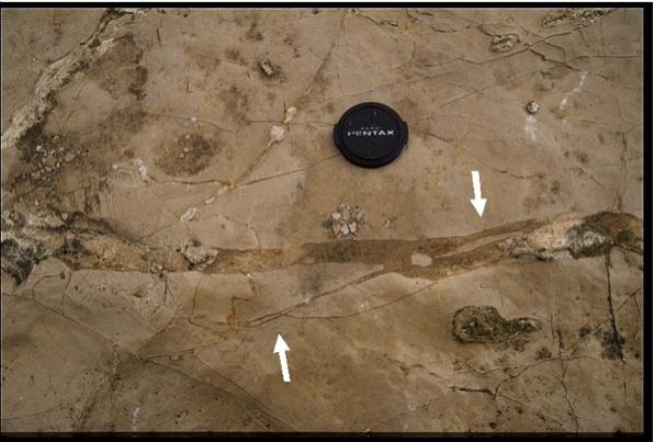 impact breccia dikes, Fuendetodos 2, Azuara impact structure
