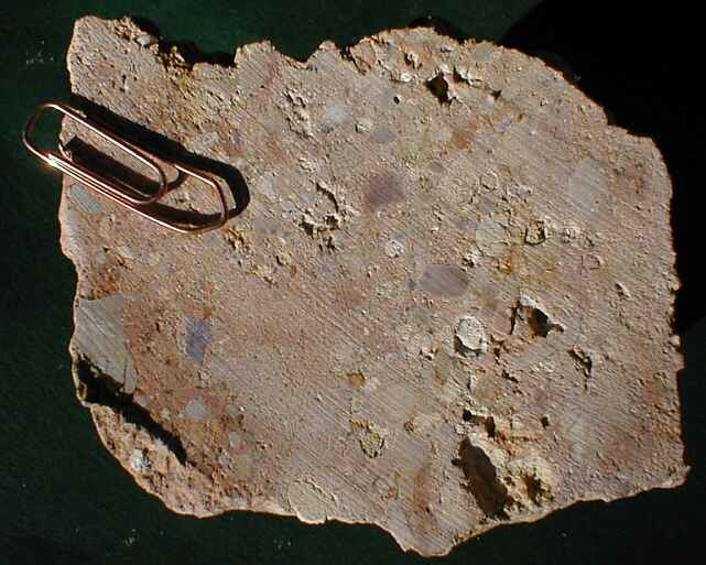 one more suevite sample from the Rubielos de la Cérida impact basin; Barrachina quarry
