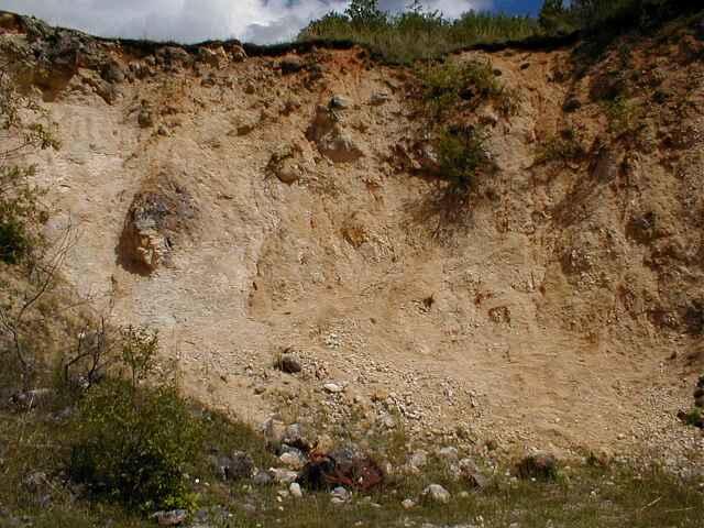 monomictic impact breccia, Malmian, Iggenhausen quarry, Ries crater