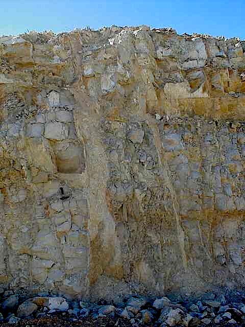 impact breccia dikes of the H type not to be confused with karst features; Fuendetodos, Azuara impact structures