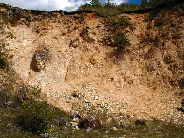 grit-brecciated impact megablock, Iggenhausen, Ries crater