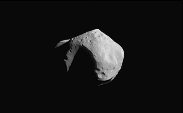 the rubble-pile asteroid Mathilde 50 km diameter