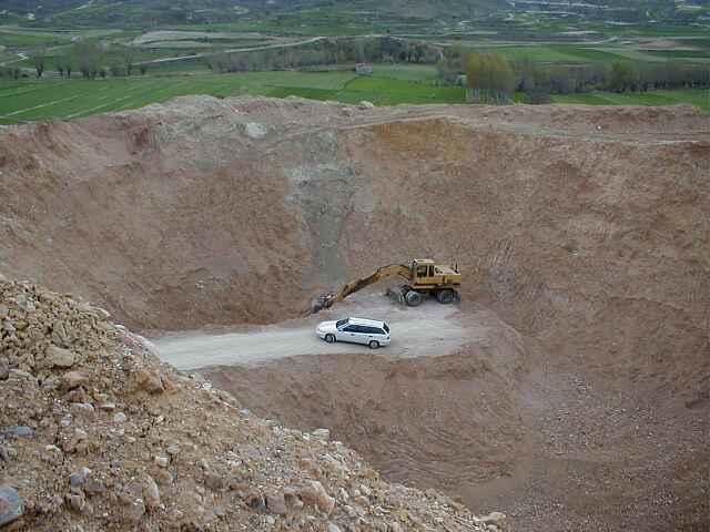 impact megabreccia, temporary quarry, Barrachina, Rubielos de la Cérida impact basin