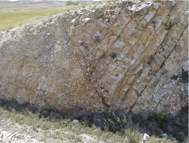 megabreccia Azuara impact structure, megaclast 3, Belchite