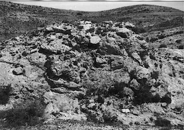 megabreccia Azuara impact structure, megaclast, Belchite