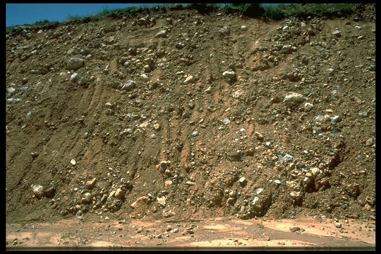 outcropping diamictic impact ejecta, Puerto Mínguez, Rubielos impact