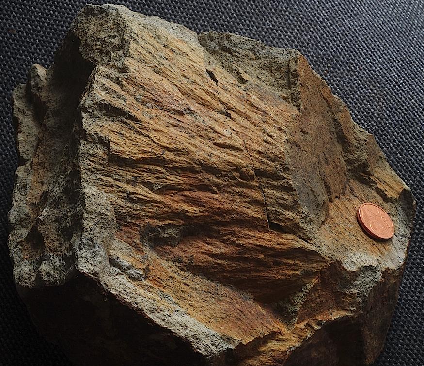 shatter cone wengenhausen Ries crater, hornblende kersantite