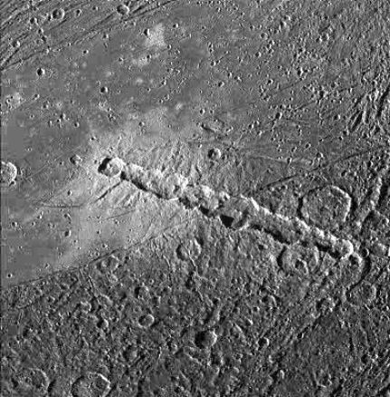 crater chain on Ganymed for comparison with the terrestrial Azuara event crater chain