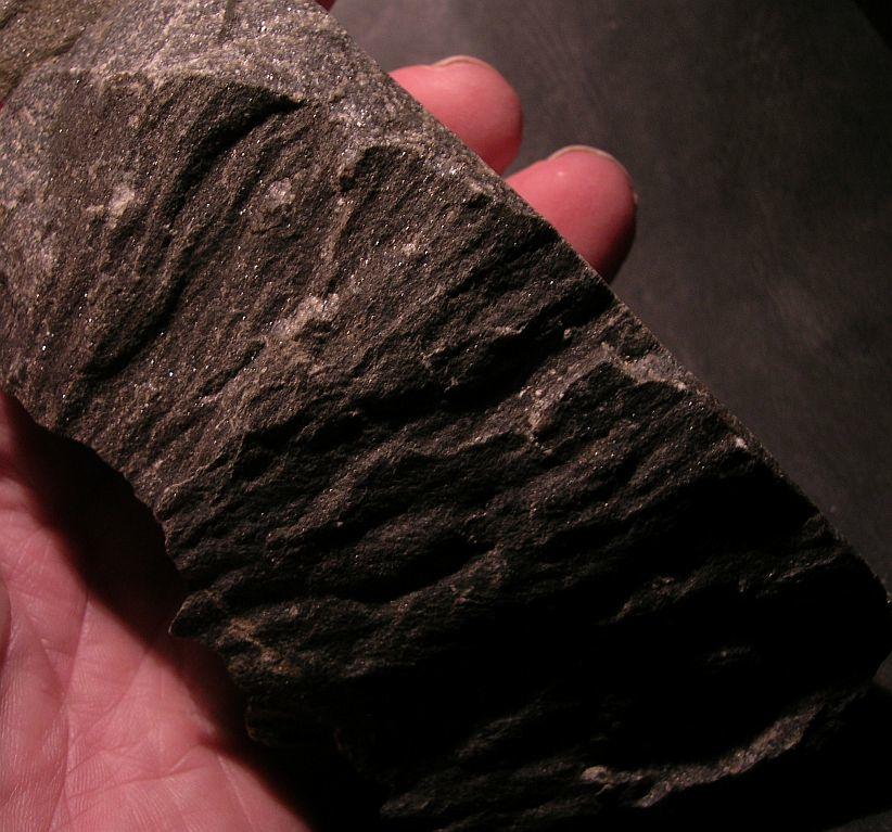 shatter cone, quartz arenite, Sudbury impact structure, Canada