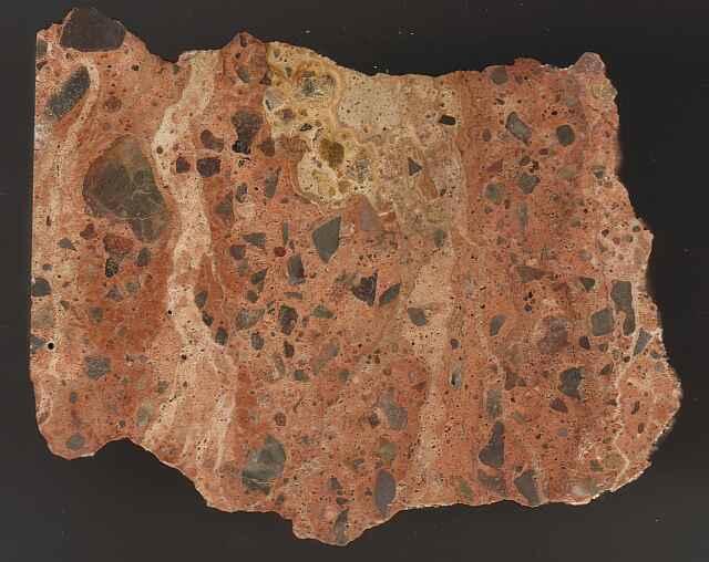 suevite impact breccia, relics of carbonate melt, Cucalón deposit, Azuara impact structure