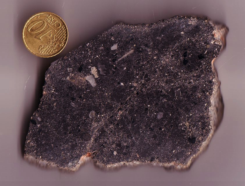 suevite from a boulder found east of Sudbury, Canada