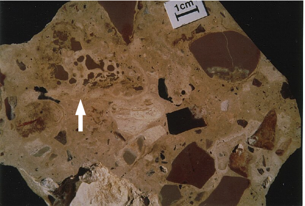 polymictic impact breccia, Fuendetodos, Azuara impact structure