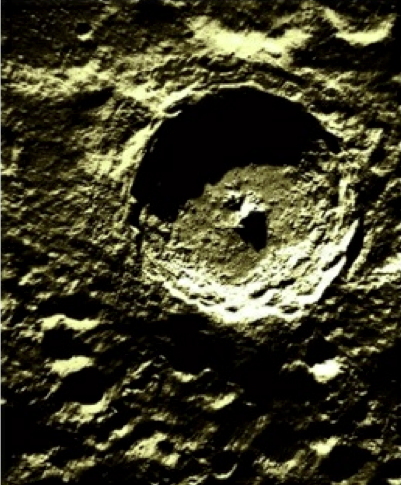 central-uplift crater Tycho on the Moon