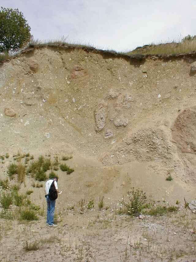 Ries crater Limberg quarry megabreccia detail