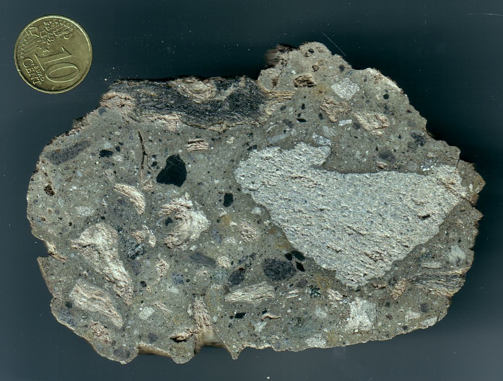 gray suevite variety of the Wanapitei impact structure, Canada