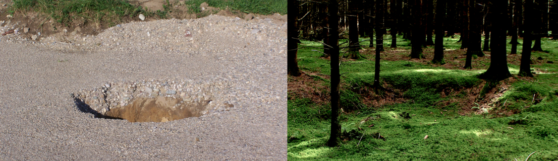soil liquefaction from Chiemgau meteorite impact