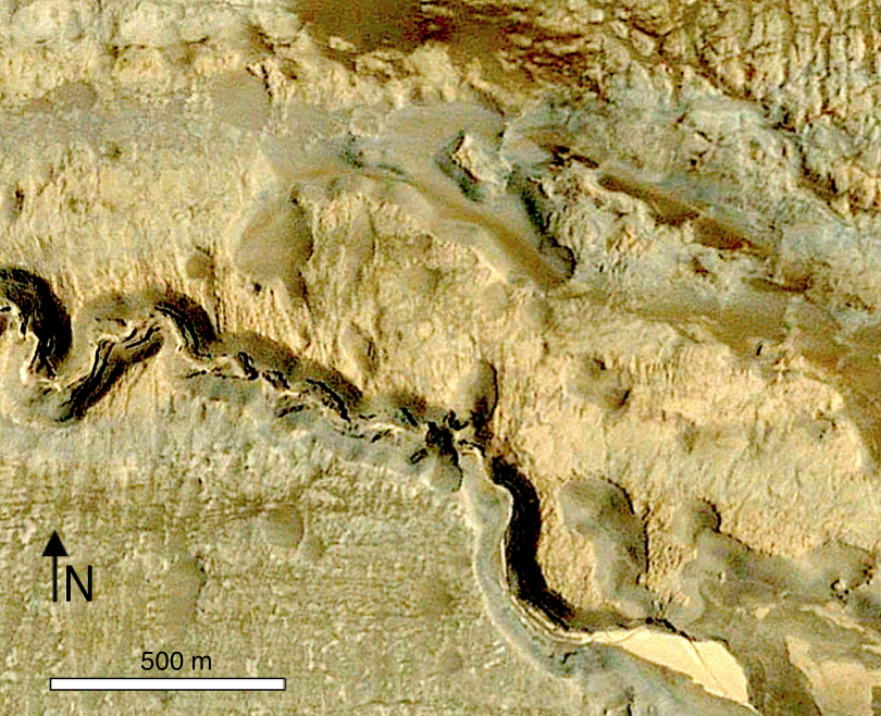 Google Earth imagery of the Quillagua NNE 2 crater group