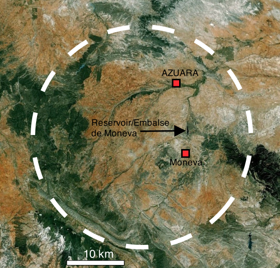 Google Earth Azuara impact structure
