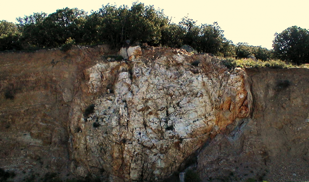 megablock in Paleozoic siltstone Azuara impact detail
