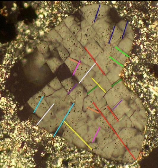 planar fractures multiple sets in quartz Nalbach Saarland impact
