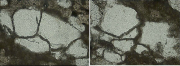 chiemgau impact glass-filled spallation fractures in quartz grains