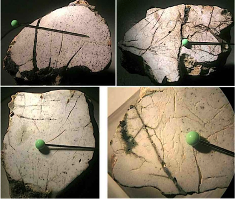 Nalbach Saarland impact glass-filled spallation fractures