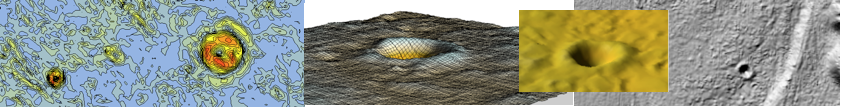 Digital Terrain Model Chiemgau impact meteorite craters