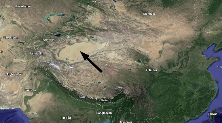 Taklamakan Desert basin in China - possible mega-impact