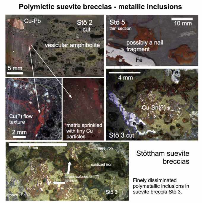 Artifacts-in-impactite -a meteorite impact novelty - metallic artifacrs in shocked suevite breccia
